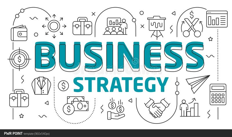 Estrategia empresarial de la plantilla del punto del ejemplo de las diapositivas de las líneas eléctricas libre illustration