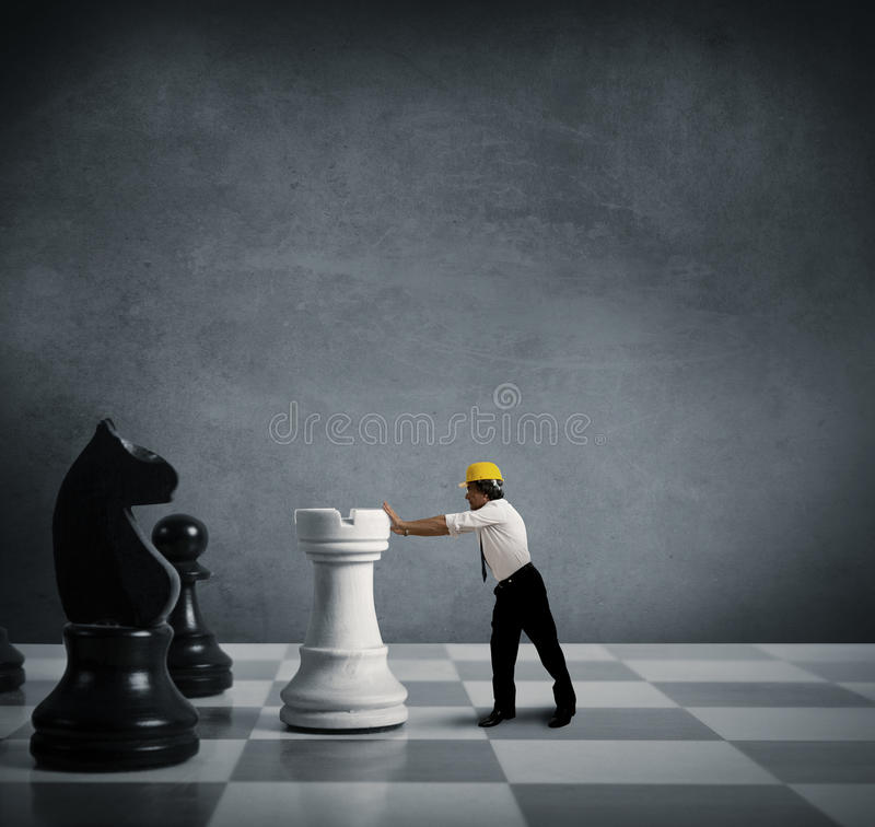 Estrategia en asunto imagen de archivo