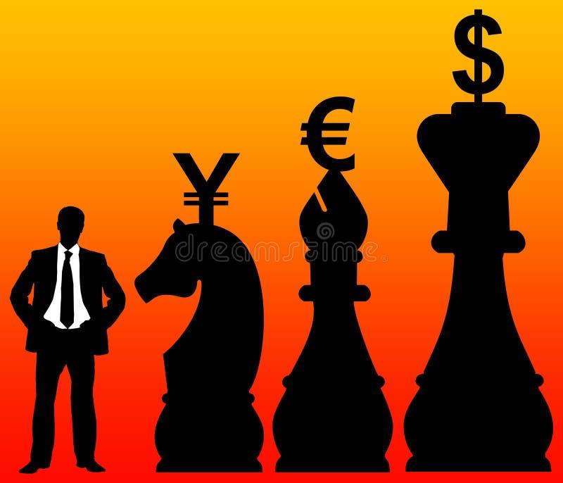 Estrategia financiera stock de ilustración