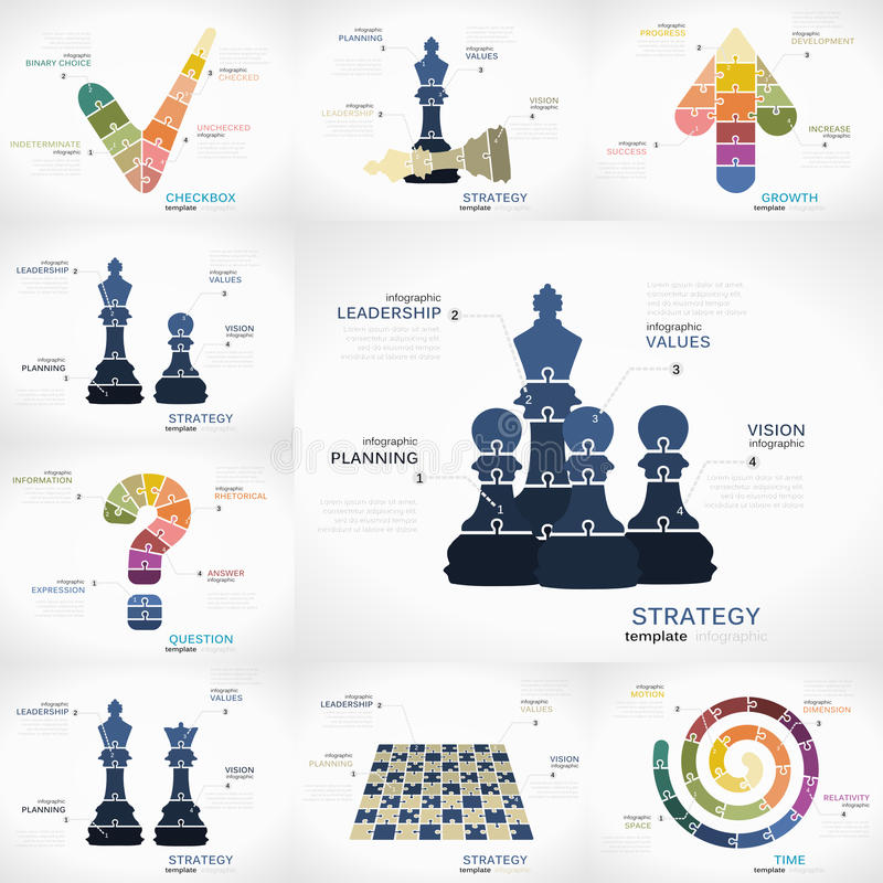 Estrategia infographic stock de ilustración