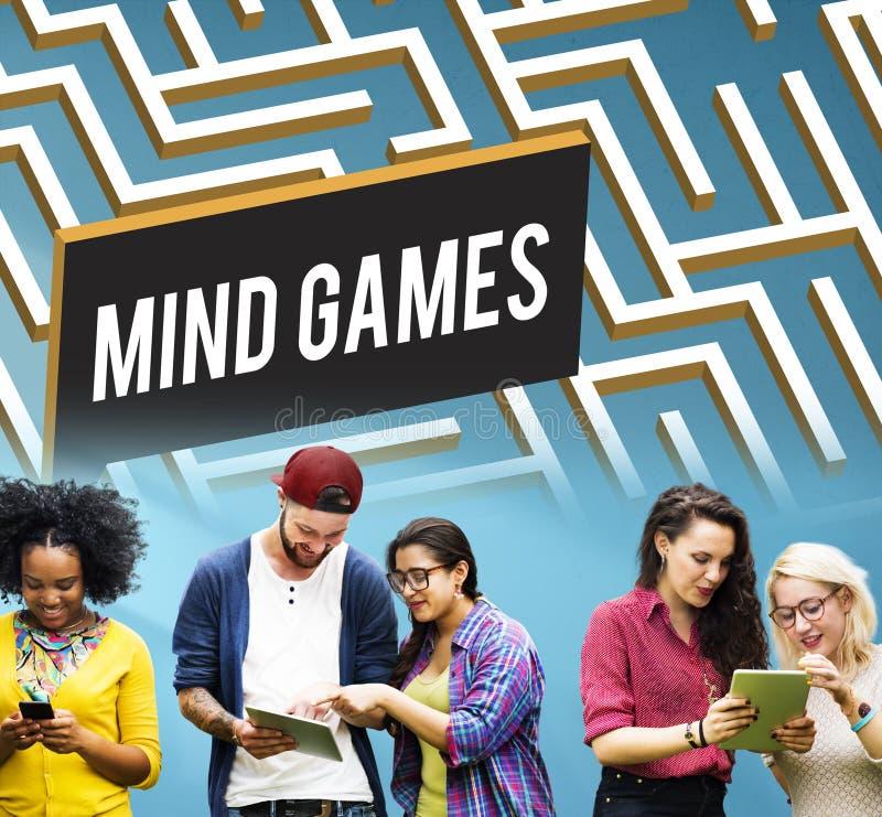 Estrategia Maze Solution Concept de los juegos de mente imágenes de archivo libres de regalías