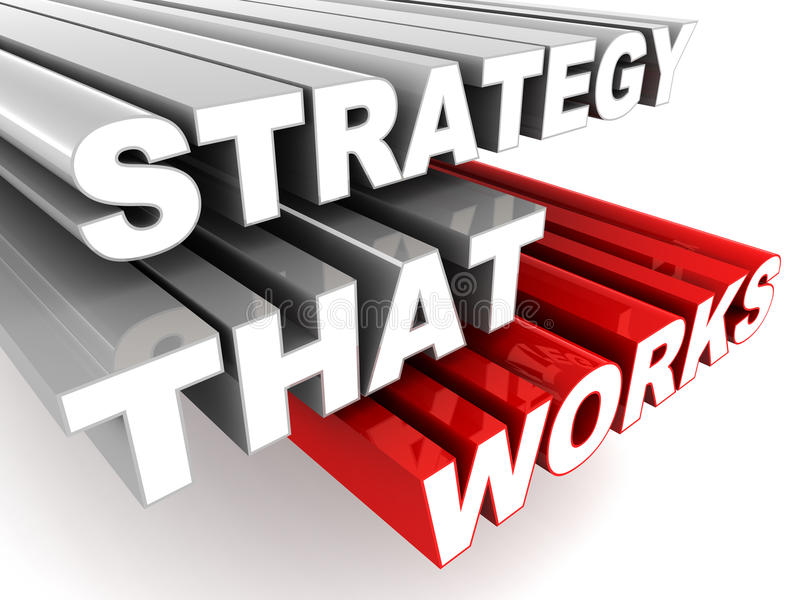 Estrategia que trabaja stock de ilustración