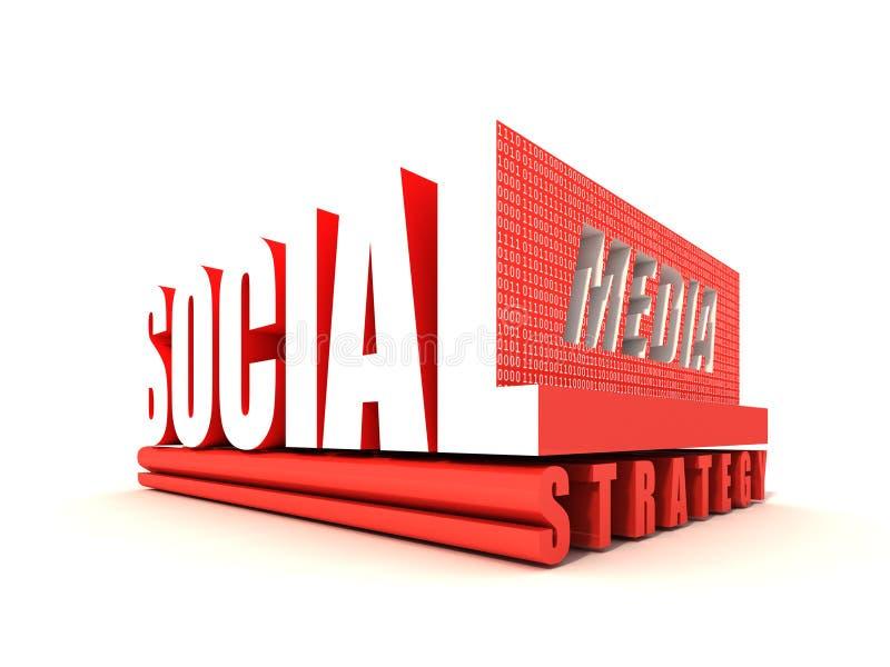 Estrategia social de los media stock de ilustración