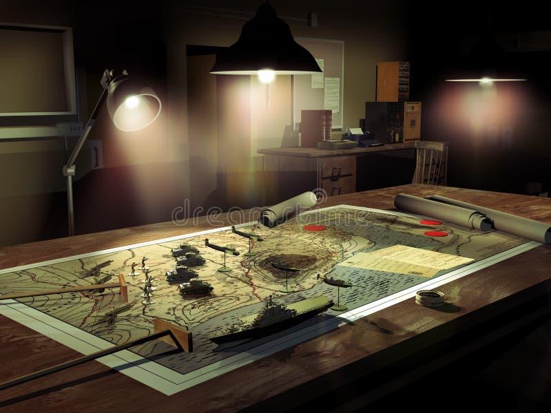 Estrategias de la guerra ilustración del vector