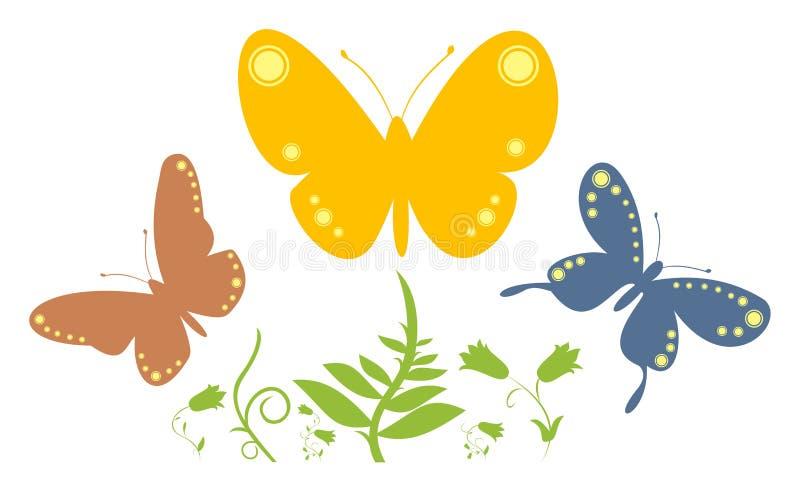 Estratto 2 della farfalla illustrazione vettoriale