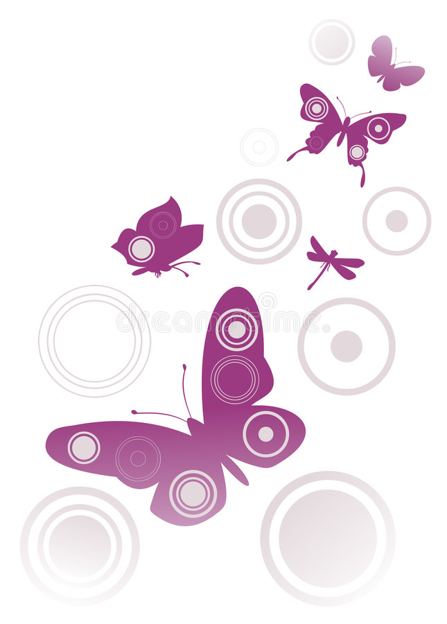 Estratto 3 della farfalla illustrazione vettoriale