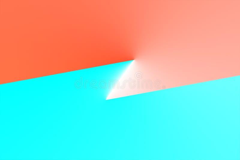 Estratto, alta tecnologia, fondo semplicistico 3d illustrazione di stock
