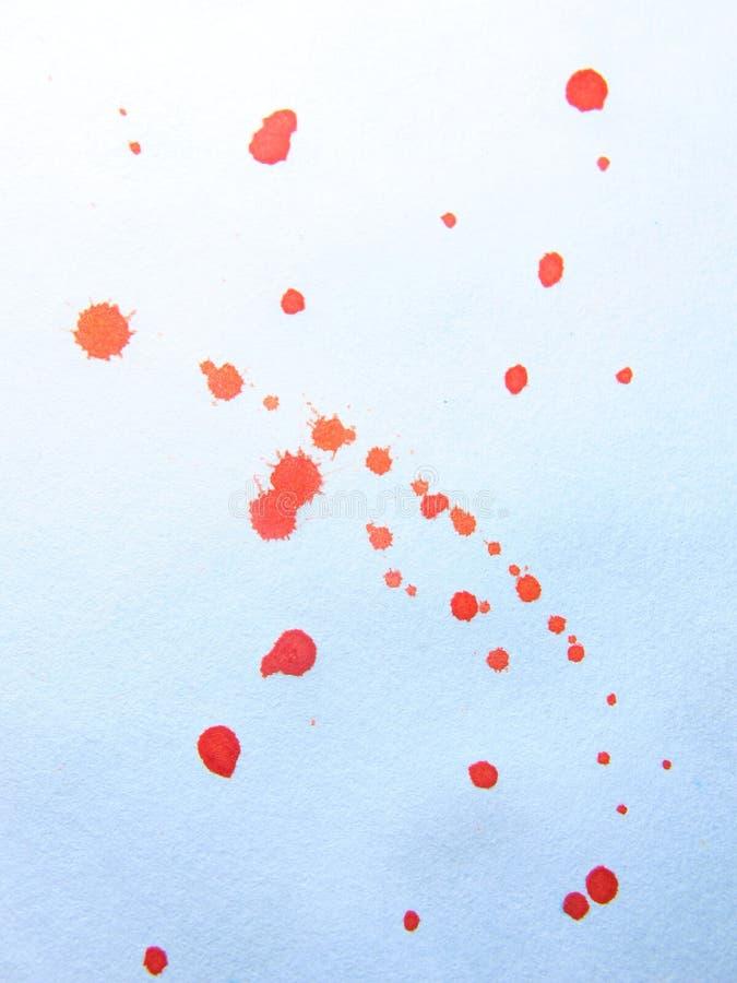 Estratto arancione dell'acquerello illustrazione di stock