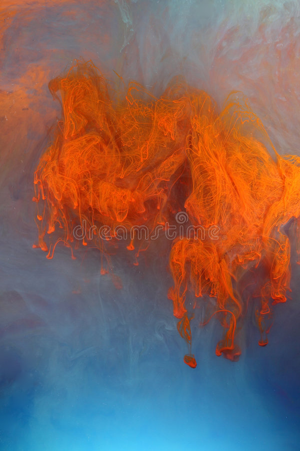 Estratto arancione e blu fotografia stock libera da diritti