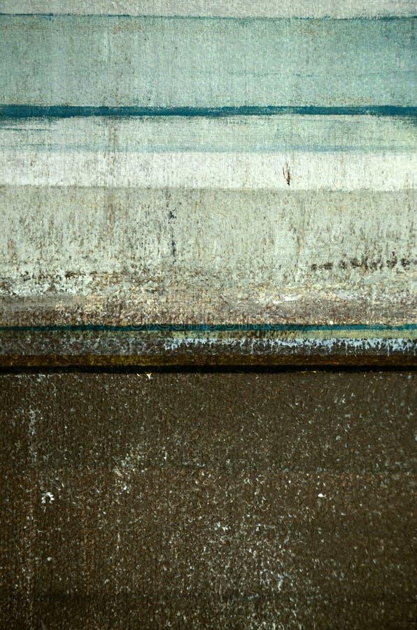 Estratto Art Painting di Brown e di Teal fotografie stock libere da diritti