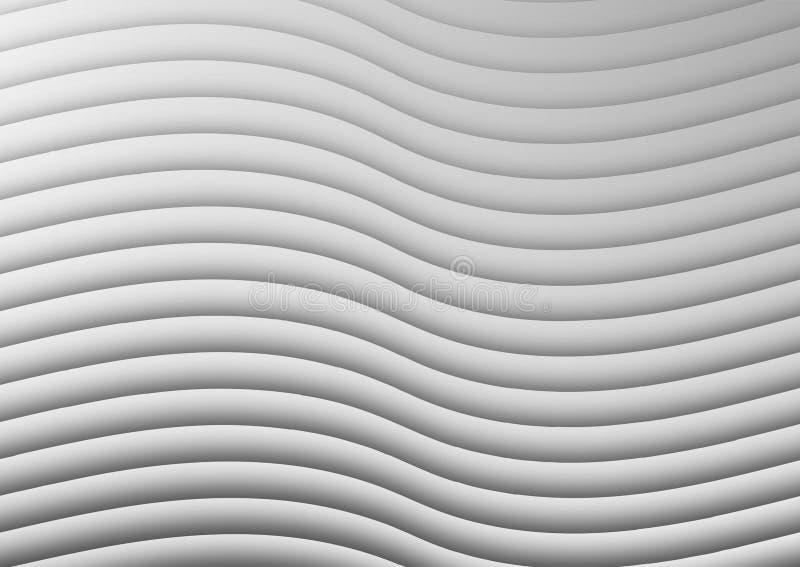 Estratto Bent White Papers o fondo di struttura della parete royalty illustrazione gratis