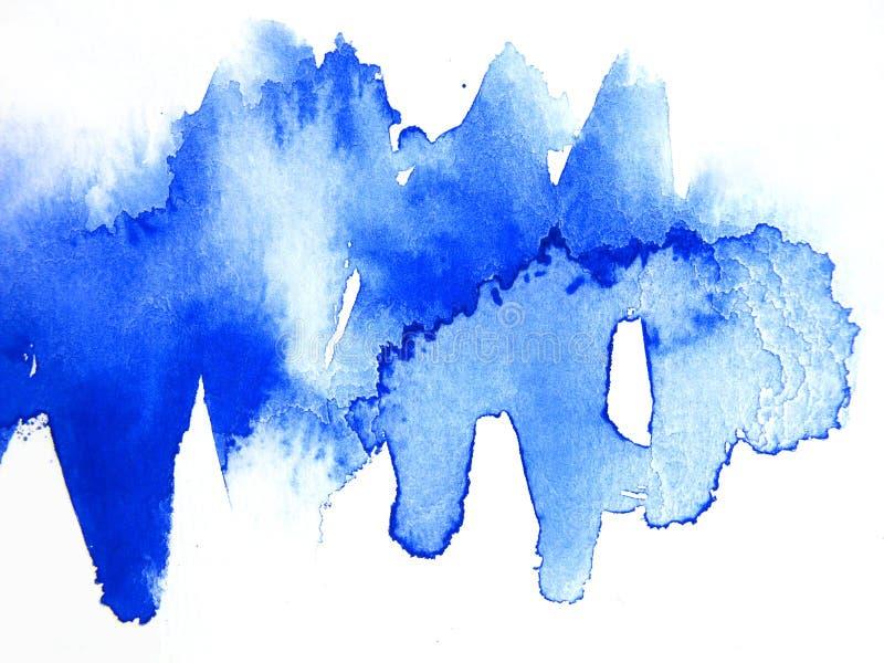 Estratto blu 1 dell'acquerello illustrazione vettoriale