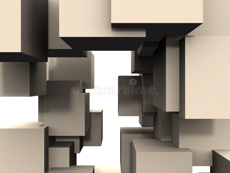 Estratto - Collegamenti Del Cubo Immagini Stock