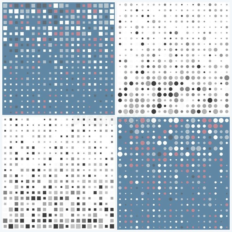 Estratto con i triangoli Illustrazione di vettore immagini stock