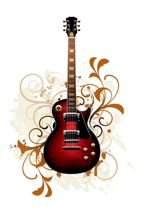 Estratto con la chitarra illustrazione vettoriale