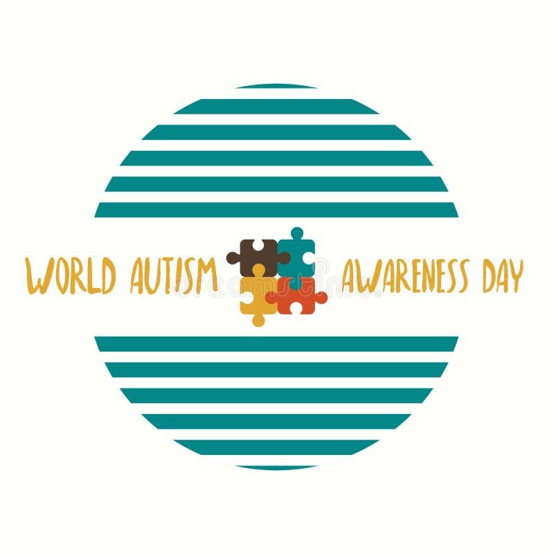 Estratto creativo di vettore per il giorno di consapevolezza di autismo del mondo Festa o evento per la gente con autismo ed altr illustrazione di stock