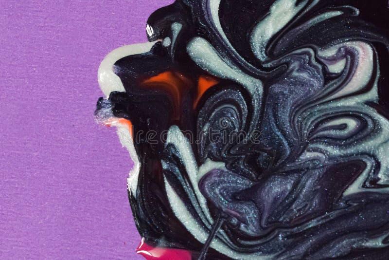 Estratto dei colori dello smalto, primo piano di arte variopinta dello smalto immagini stock libere da diritti