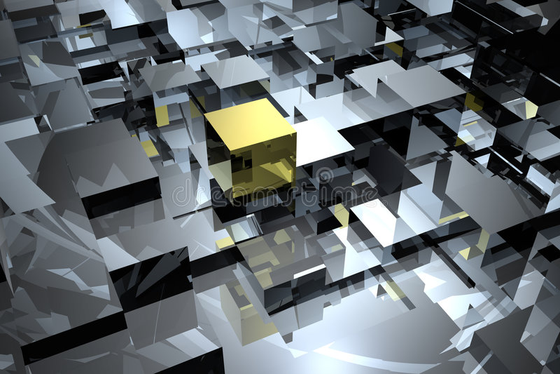 Estratto dei cubi illustrazione vettoriale