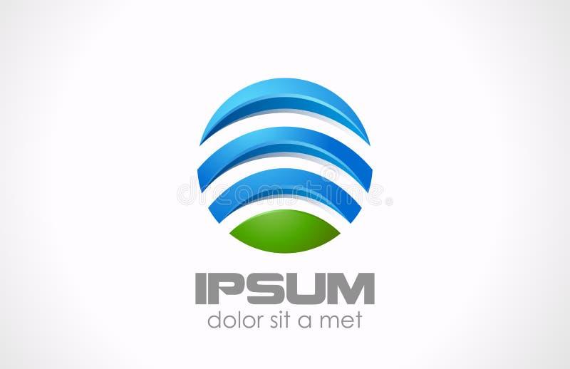 Icona astratta del cerchio. Globale, media, tecnologia Lo royalty illustrazione gratis
