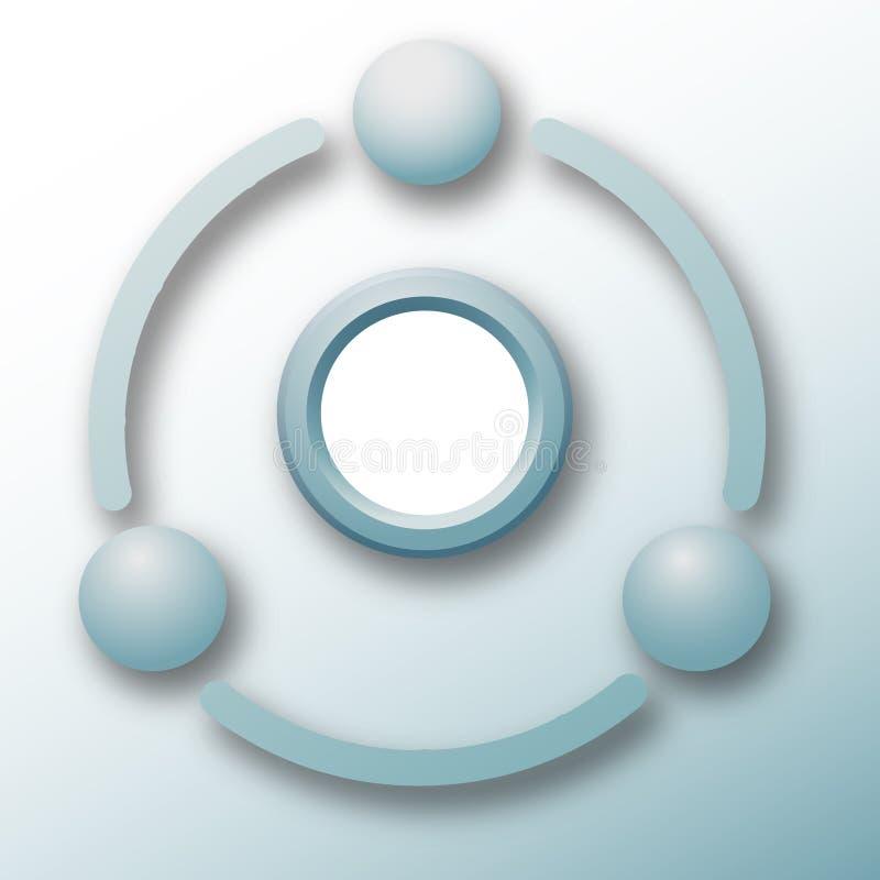 Estratto del ciclo di tecnologia degli elementi del collegamento illustrazione vettoriale