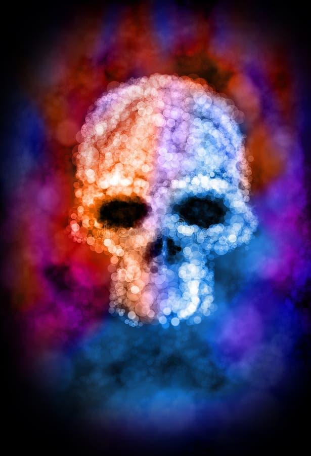 Estratto del cranio di Bokeh illustrazione di stock