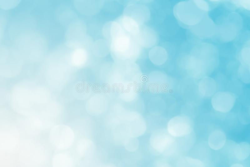 estratto del fondo del cerchio, blu ed estratto leggeri del fondo della sfuocatura illustrazione di stock