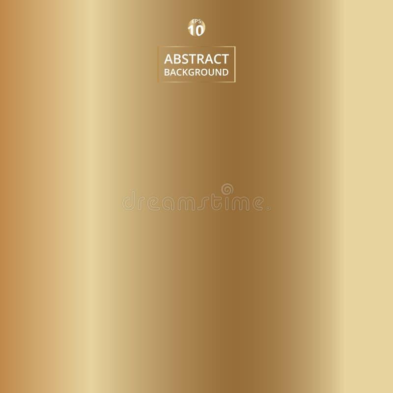 Estratto del fondo realistico di colore dell'oro di pendenza illustrazione di stock