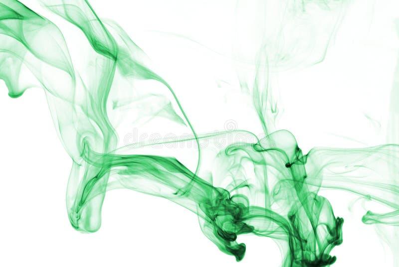 Estratto del fumo in Aqua immagini stock libere da diritti