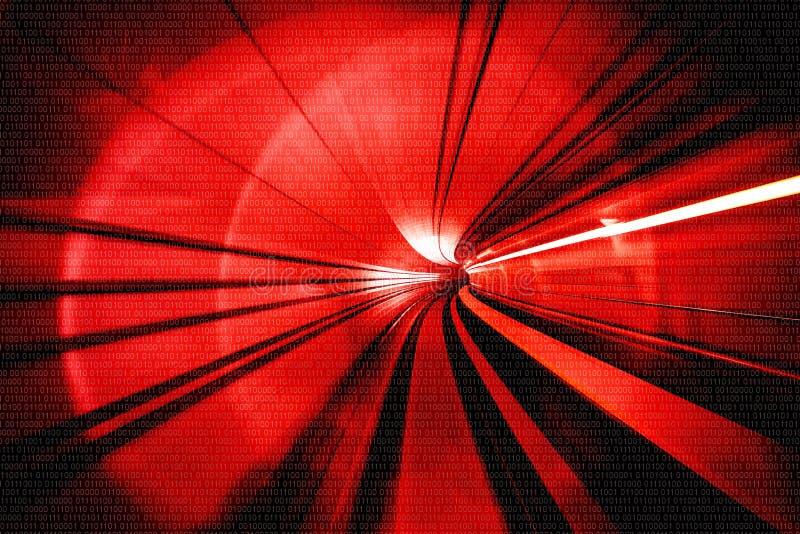 Estratto del mosso - in un'intestazione sotterranea del tunnel verso fotografie stock libere da diritti
