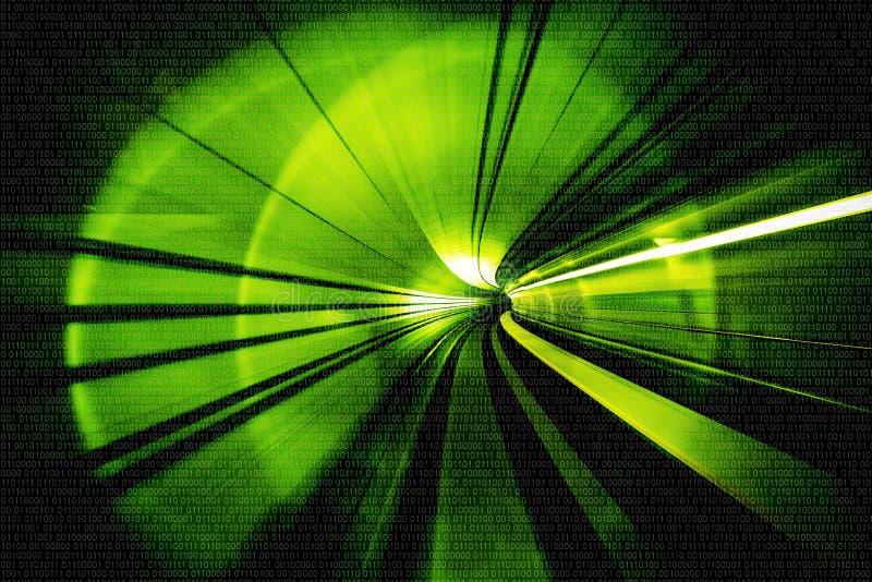 Estratto del mosso - in un'intestazione sotterranea del tunnel verso fotografia stock libera da diritti