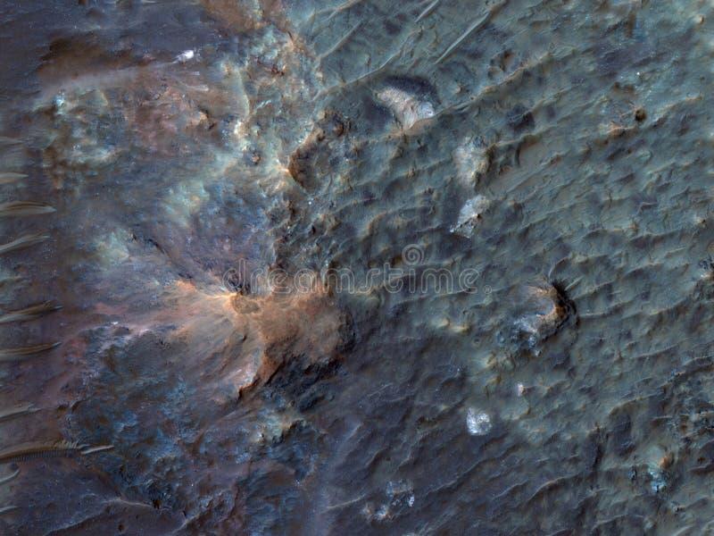 Estratto del paesaggio di Marte fotografie stock