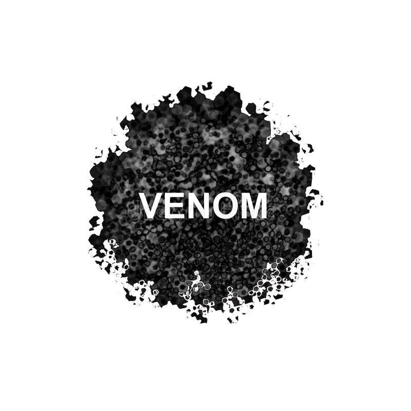 Estratto del veleno isolato su fondo bianco royalty illustrazione gratis