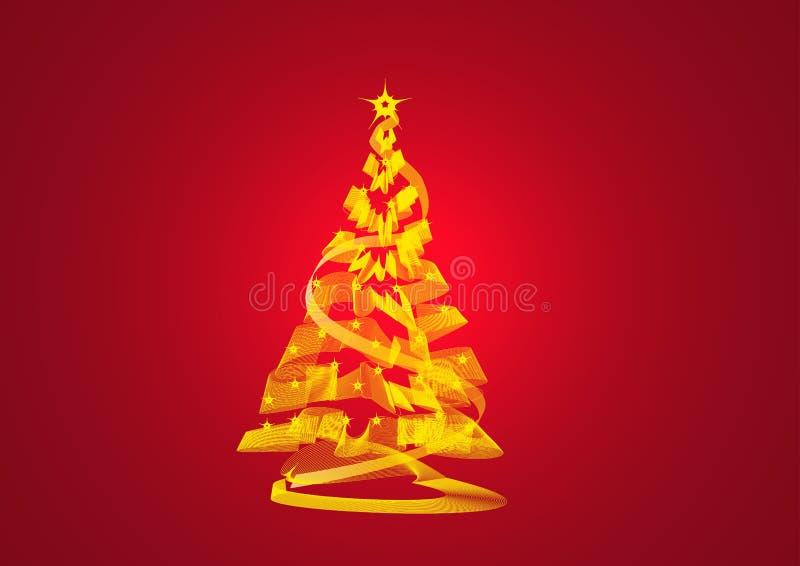 Estratto dell'albero di Natale illustrazione vettoriale