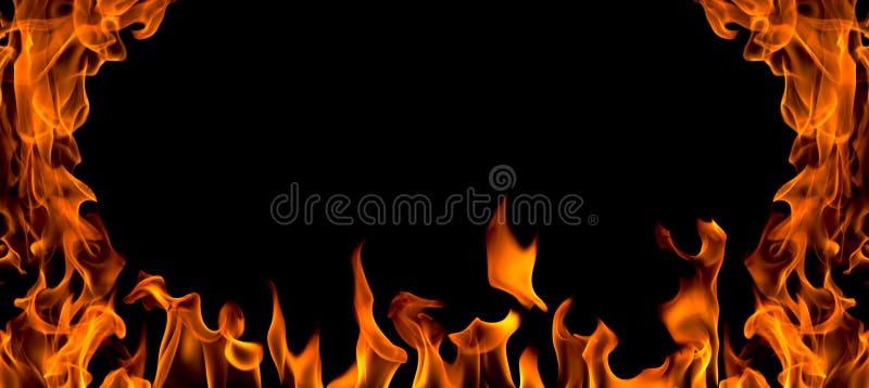 Estratto della fiamma del fuoco, isolato fotografia stock libera da diritti