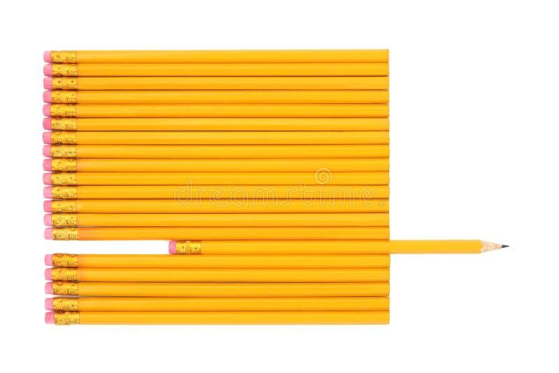 Estratto della matita di grafite fotografie stock