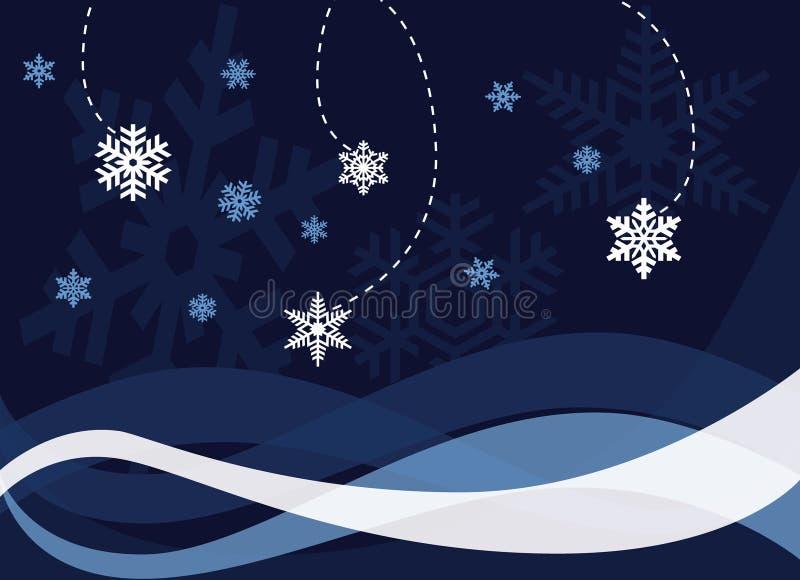 Estratto della neve di natale illustrazione vettoriale