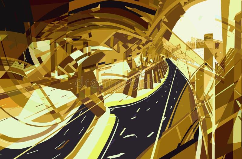 Estratto della strada principale illustrazione di stock