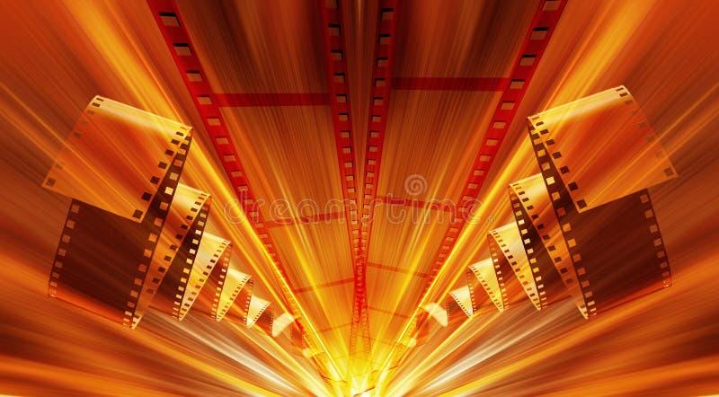 Estratto della striscia della pellicola illustrazione di stock