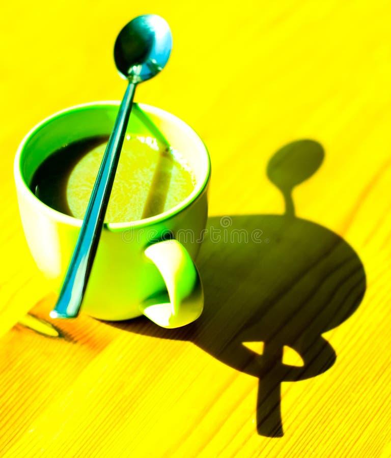 Estratto della tazza di caffè fotografia stock