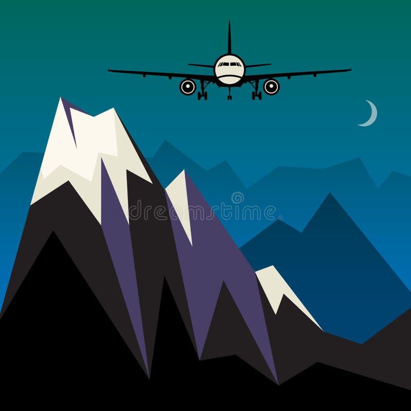Estratto delle merci aviotrasportate o di viaggio illustrazione vettoriale