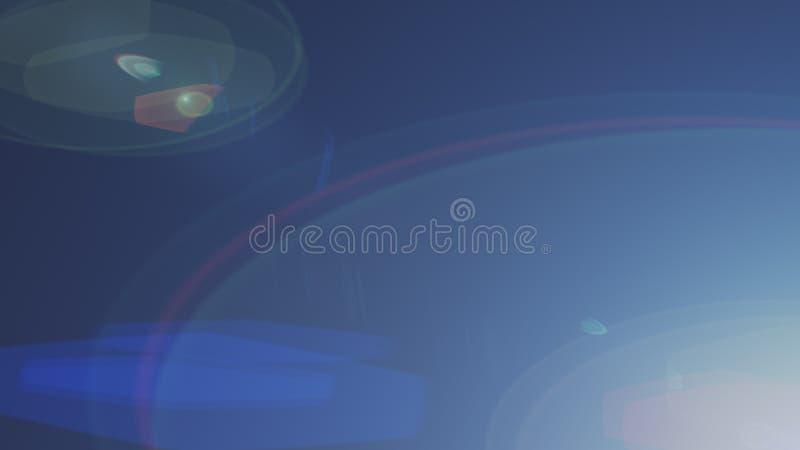 Estratto di accensione del chiarore digitale della lente nel fondo scuro illustrazione di stock