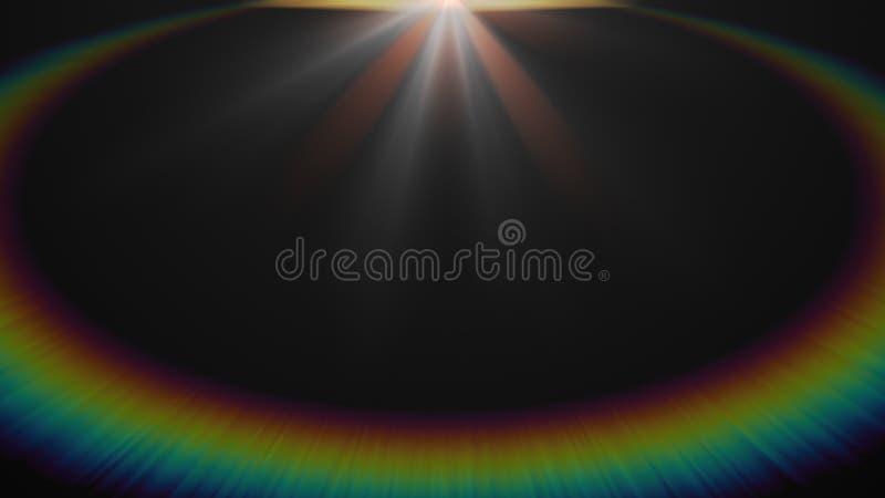 Estratto di accensione del chiarore digitale della lente nel fondo scuro illustrazione vettoriale