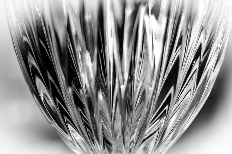 Estratto di Crystal Wine Glass in bianco e nero immagini stock libere da diritti