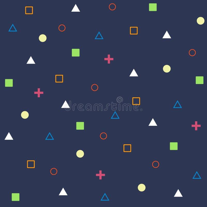 Estratto di forma geometrica sul vettore blu del fondo royalty illustrazione gratis