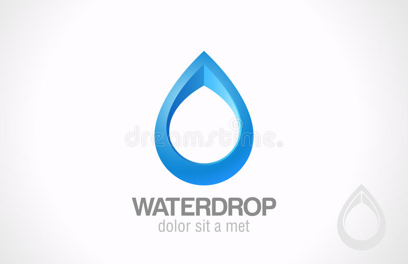 Estratto di goccia di Logo Water. Gocciolina creativa di progettazione. illustrazione vettoriale