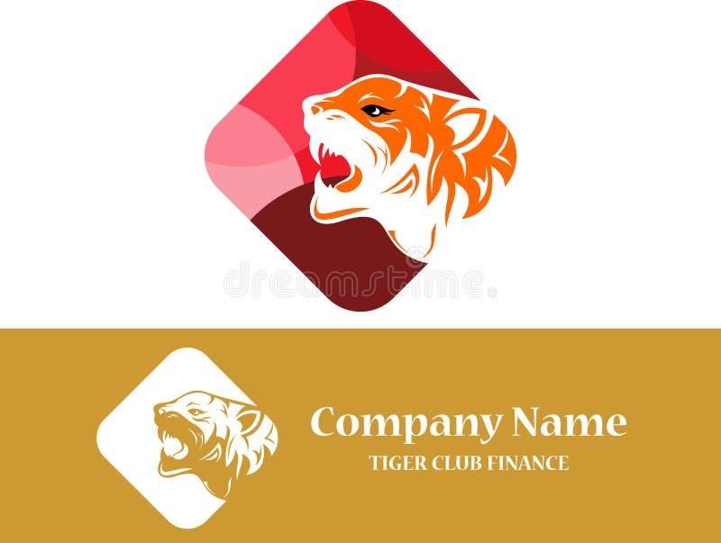 Estratto di riserva della tigre di logo variopinto fotografie stock