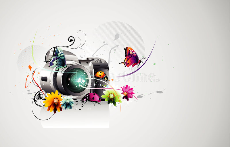 Estratto di vettore della macchina fotografica illustrazione di stock