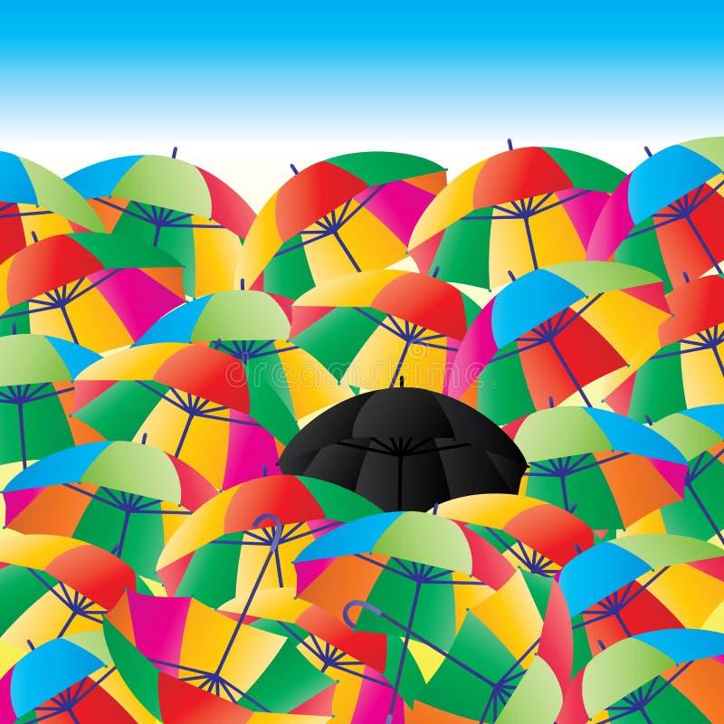 Estratto di vita dell'ombrello illustrazione vettoriale