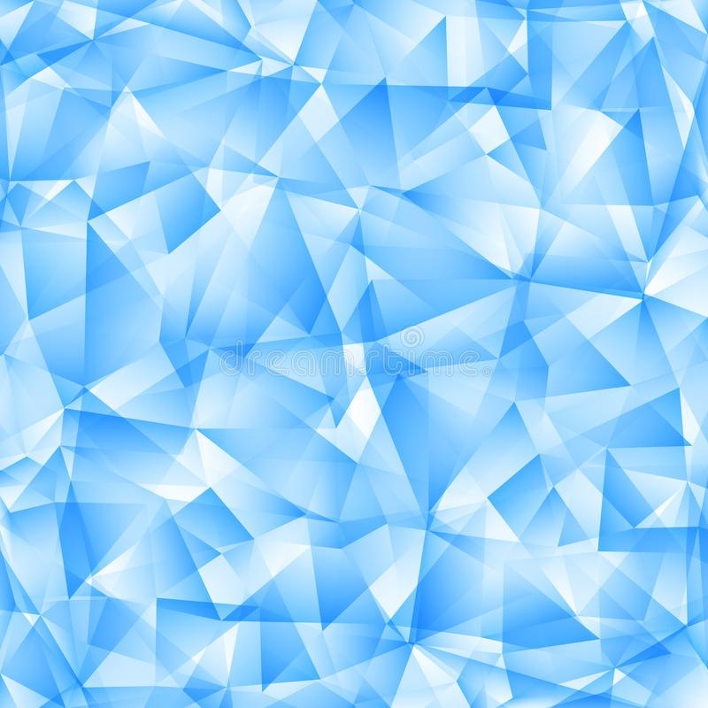 Estratto Diamond Polygonal Background Illustration blu-chiaro di vettore illustrazione vettoriale