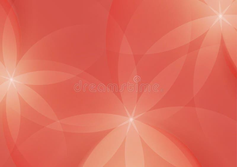 Download Estratto Floreale Su Salmon Pink Background Illustrazione Vettoriale - Illustrazione di decorativo, composizione: 56889886